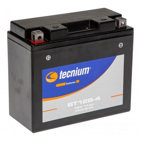 Batterie TECNIUM pour moto BT12B-4 Prête à l'emploi