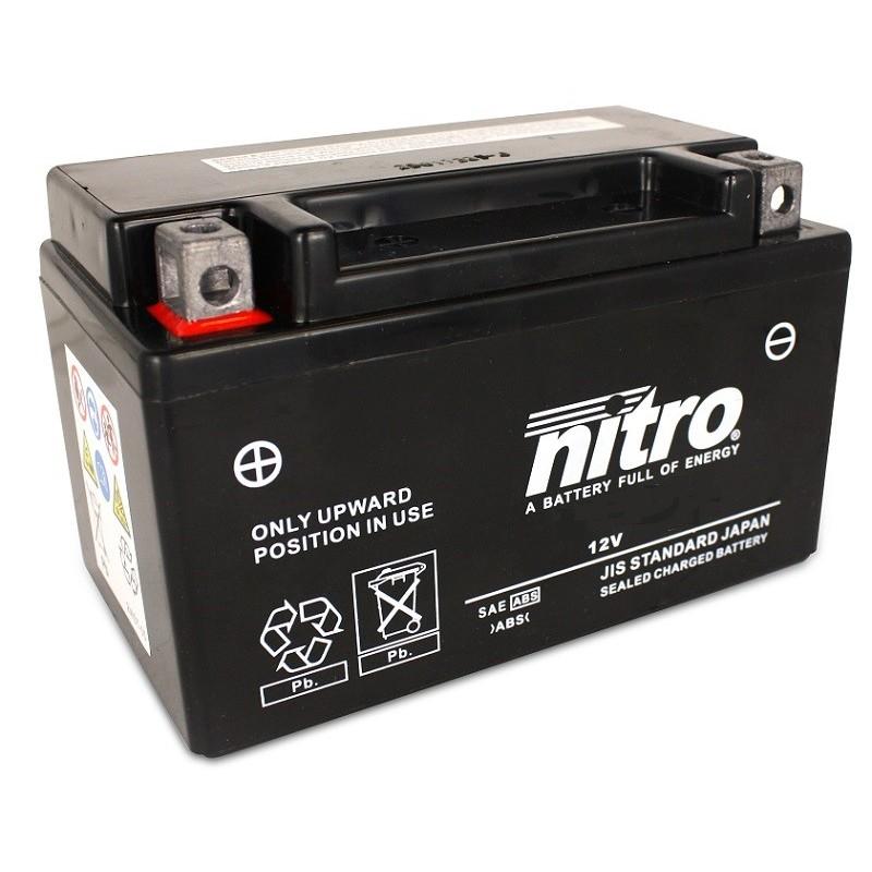 NITRO YTZ10S-BS AGM ouvert avec pack acide