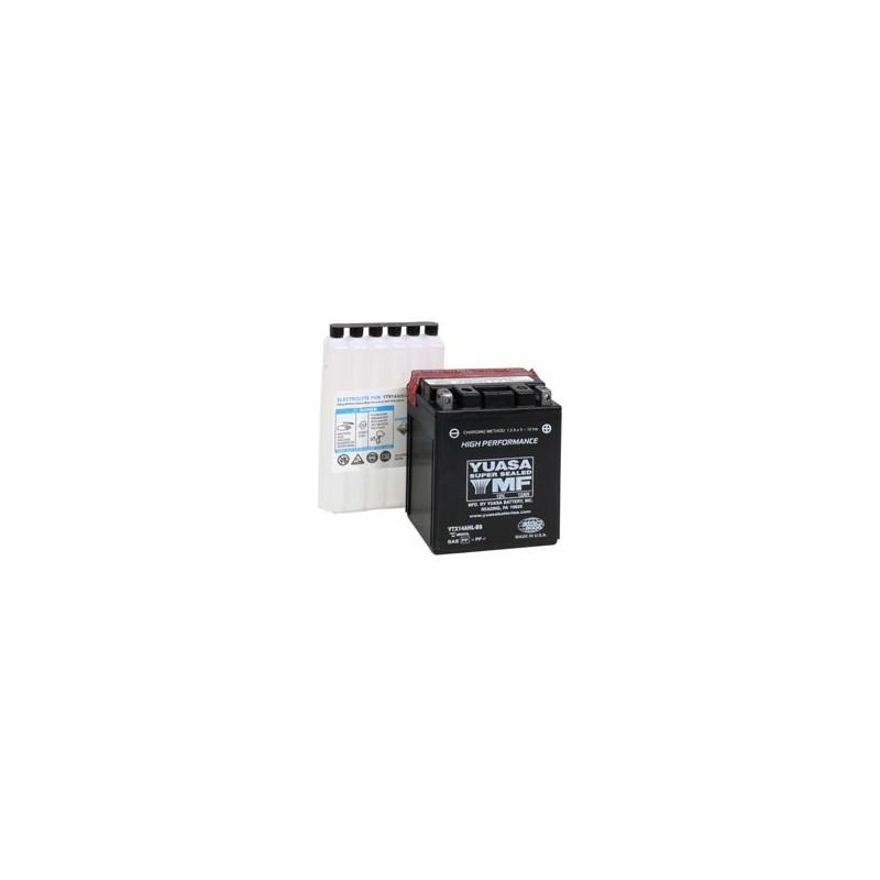 Batterie YUASA pour moto YTX14AHL-BS
