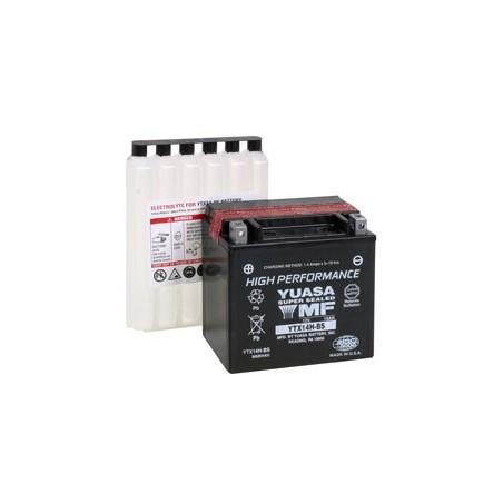 Batterie pour moto YTX14H-BS YUASA avec pack acide