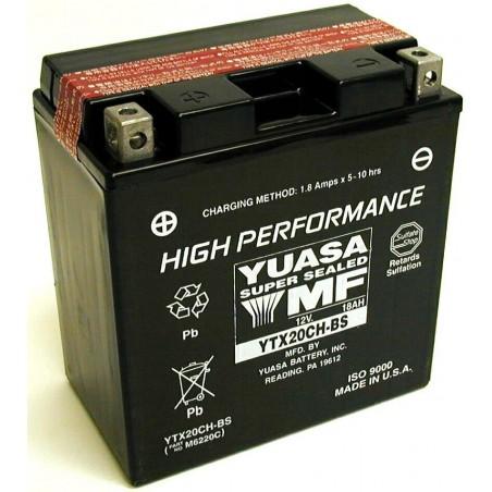 Batterie pour moto YTX20CH-BS YUASA avec pack acide
