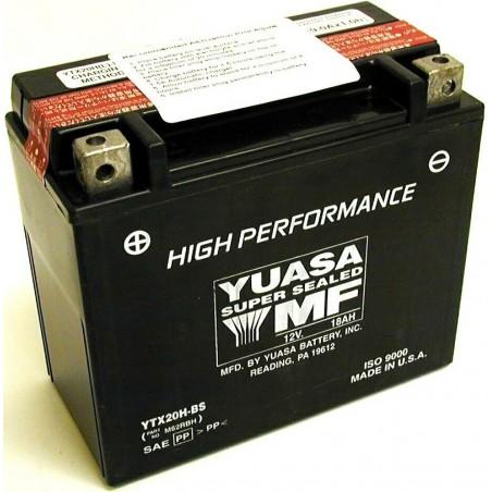 Batterie pour moto YTX20H-BS YUASA avec pack acide