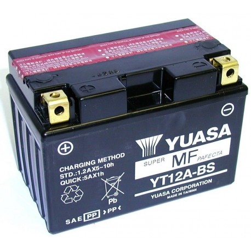 Batterie YUASA pour moto YT12A-BS