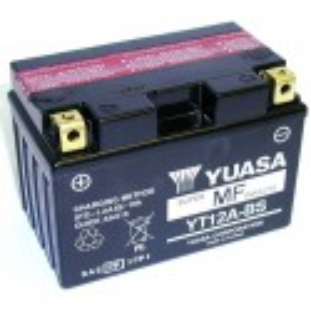 Batterie YUASA pour moto YT12A-BS AGM avec pack acide