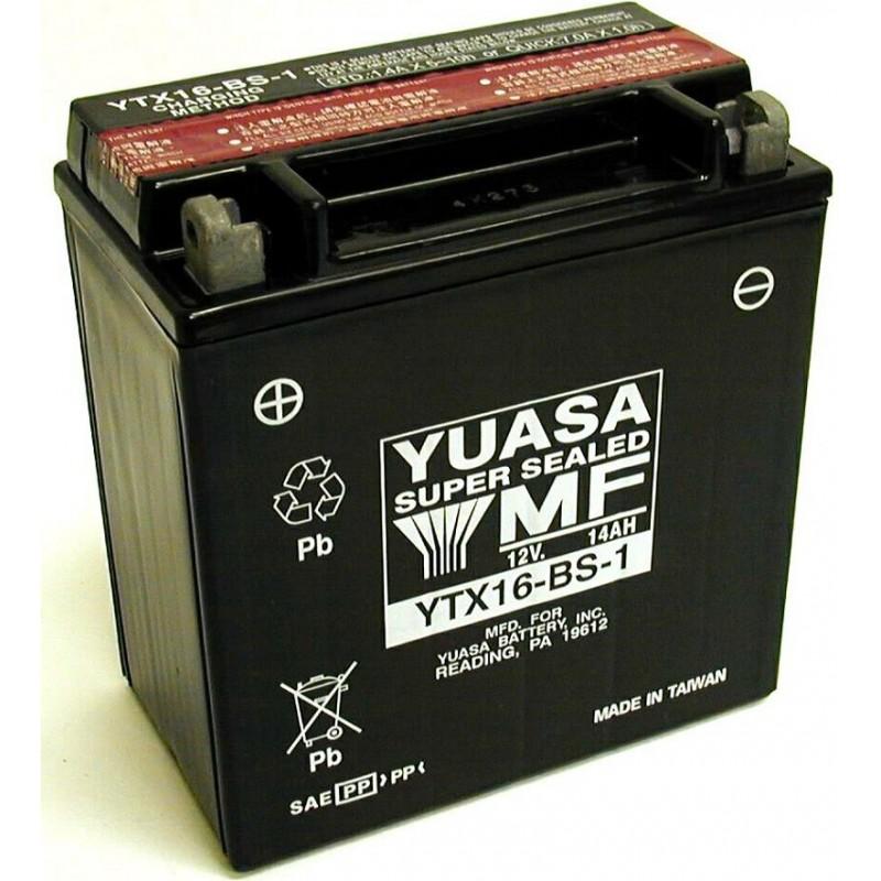 Batterie YUASA pour moto YTX16-BS-1