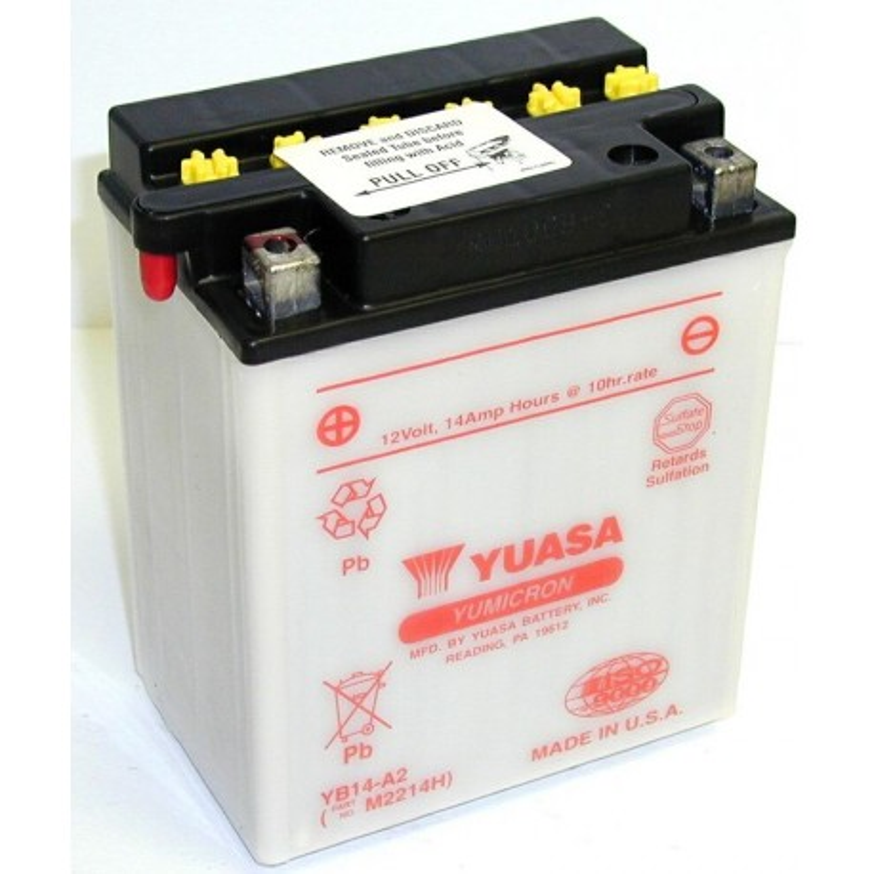 Batterie YUASA pour moto YB14-A2