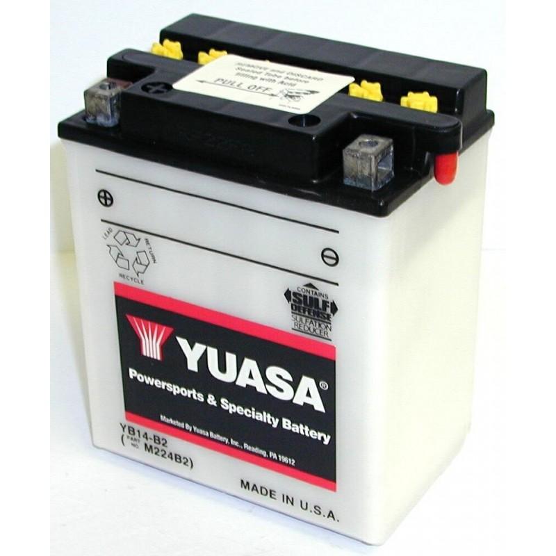 Batterie YUASA pour moto YB14-B2