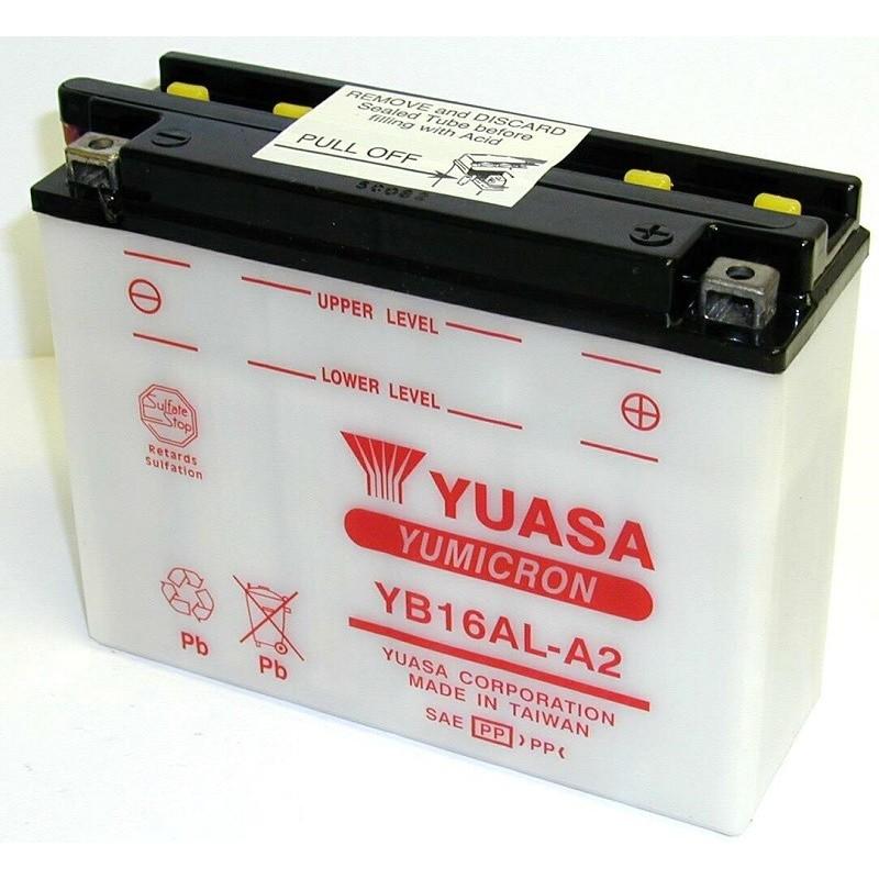 Batterie YUASA pour moto YB16AL-A2