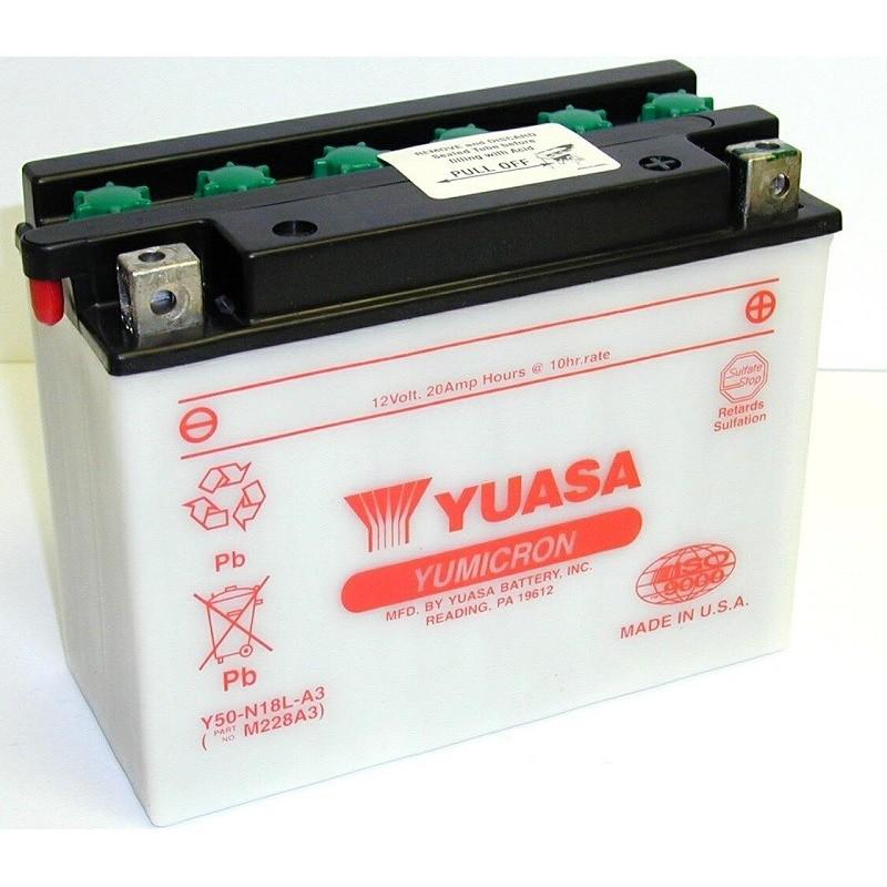 Batterie YUASA pour moto Y50-N18L-A3