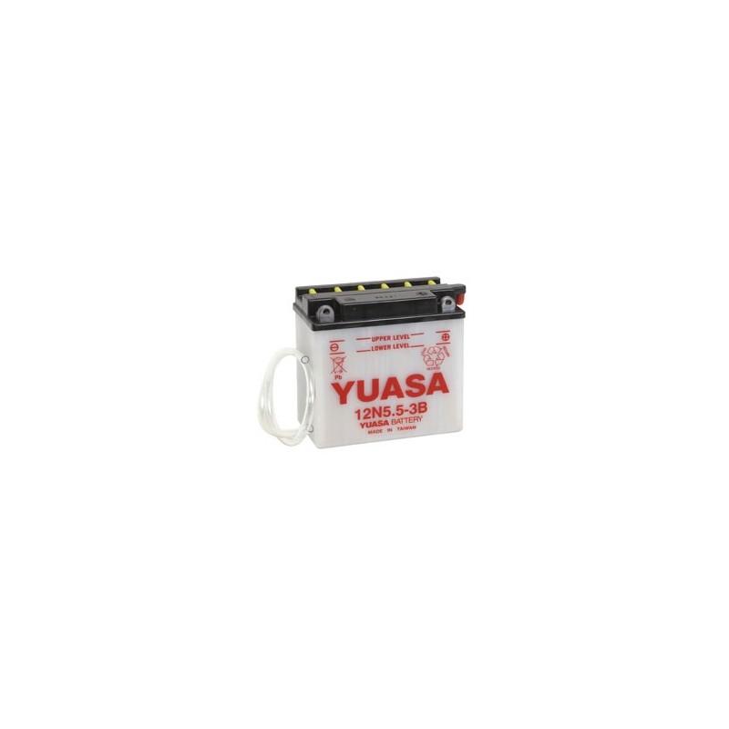 Batterie YUASA pour moto 12N5.5-3B