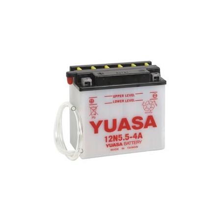 Batterie YUASA pour moto 12N5.5-4A