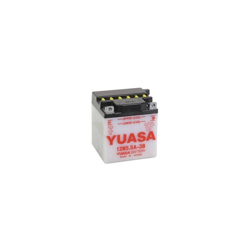 Batterie YUASA pour moto 12N5.5A-3B