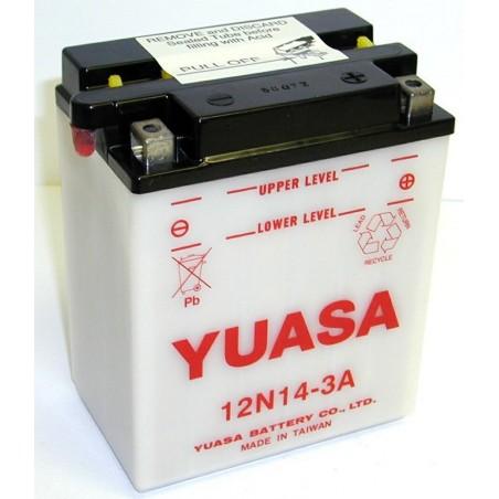 Batterie YUASA pour moto 12N14-3A