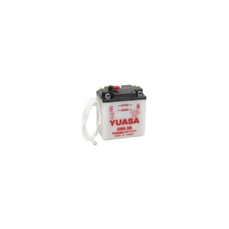 Batterie YUASA pour moto 6N6-3B