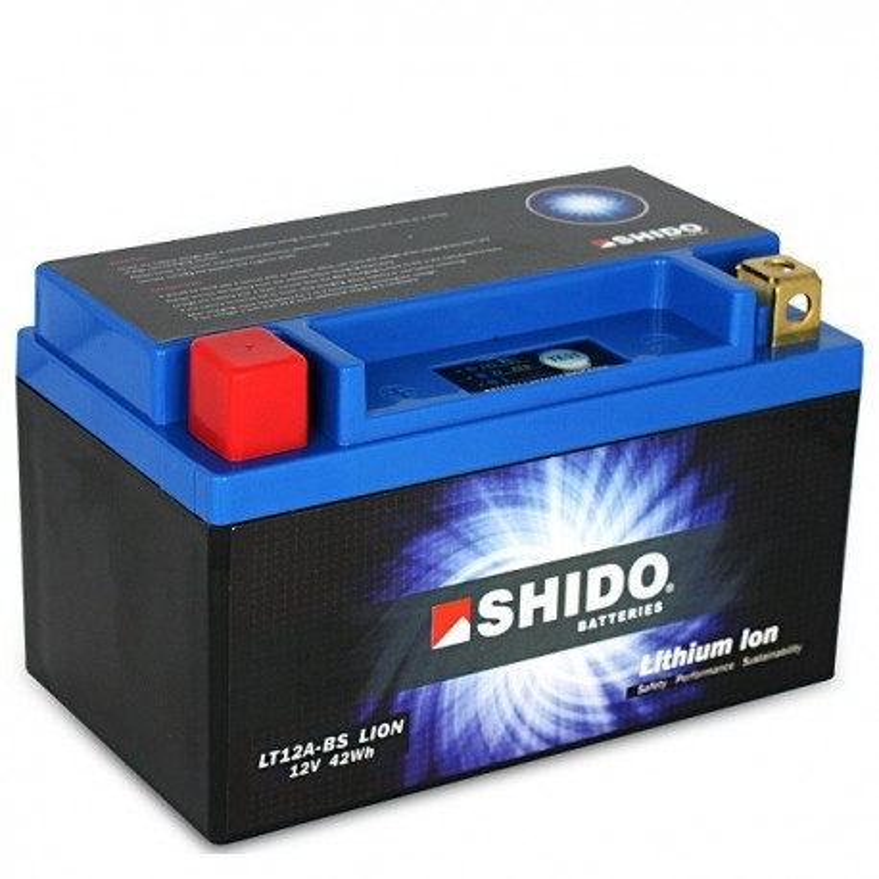 Batterie Lithium Ion SHIDO pour moto LT12A-BS