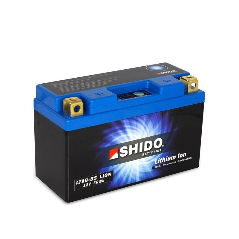 Batterie Lithium Ion SHIDO pour moto LT9B-BS