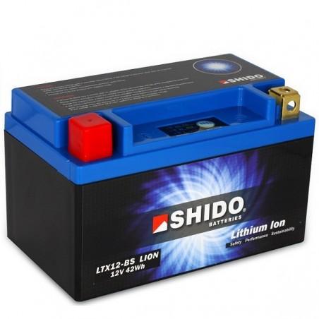 Batterie Lithium Ion SHIDO pour moto LTX12-BS
