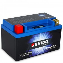 Batterie Lithium Ion SHIDO pour moto LTX14-BS