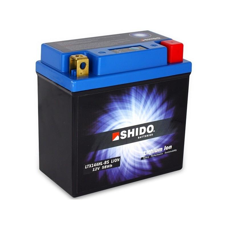 retrouvez votre batterie lithium ion shido pour moto ltx14ahl bs chez batterie de moto. Black Bedroom Furniture Sets. Home Design Ideas