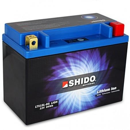 Batterie Lithium Ion SHIDO pour moto LTX15L-BS
