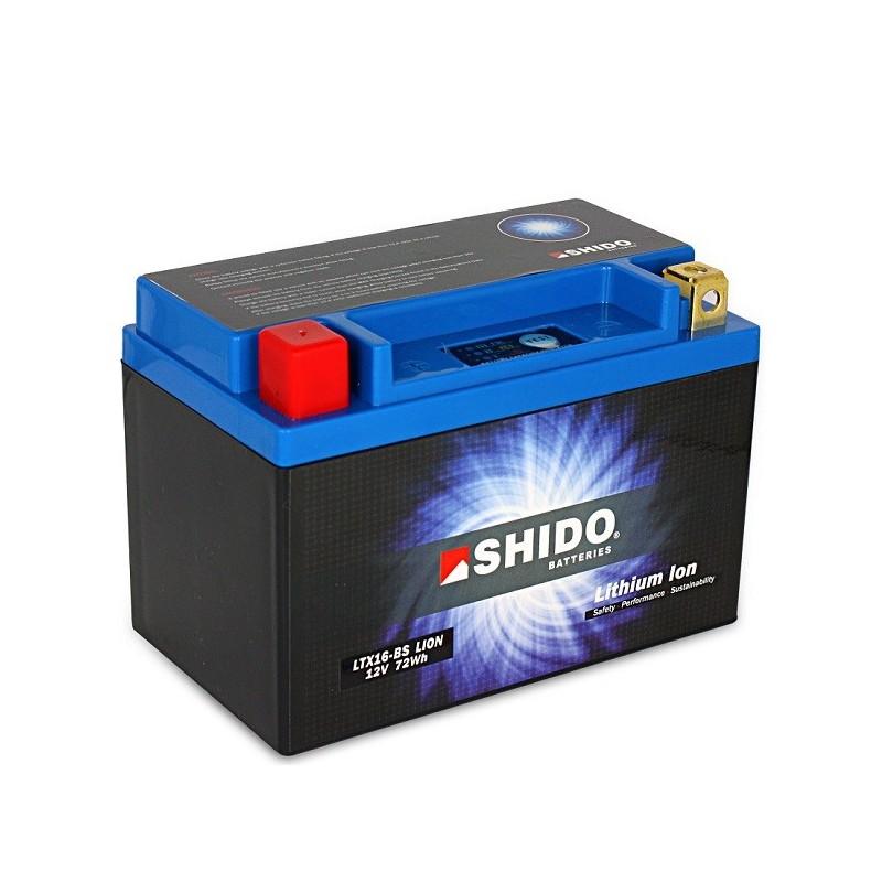 Batterie Lithium Ion SHIDO pour moto LTX16-BS