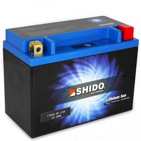 Batterie Lithium Ion SHIDO pour moto LTX20L-BS Q