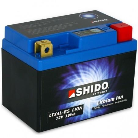 Batterie Lithium Ion SHIDO pour moto LTX4L-BS