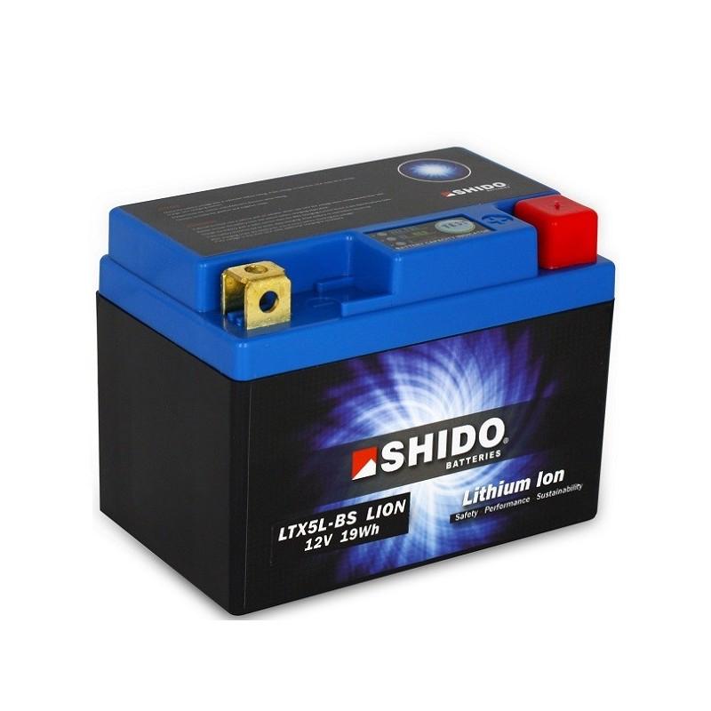 Batterie Lithium Ion SHIDO pour moto LTX5L-BS