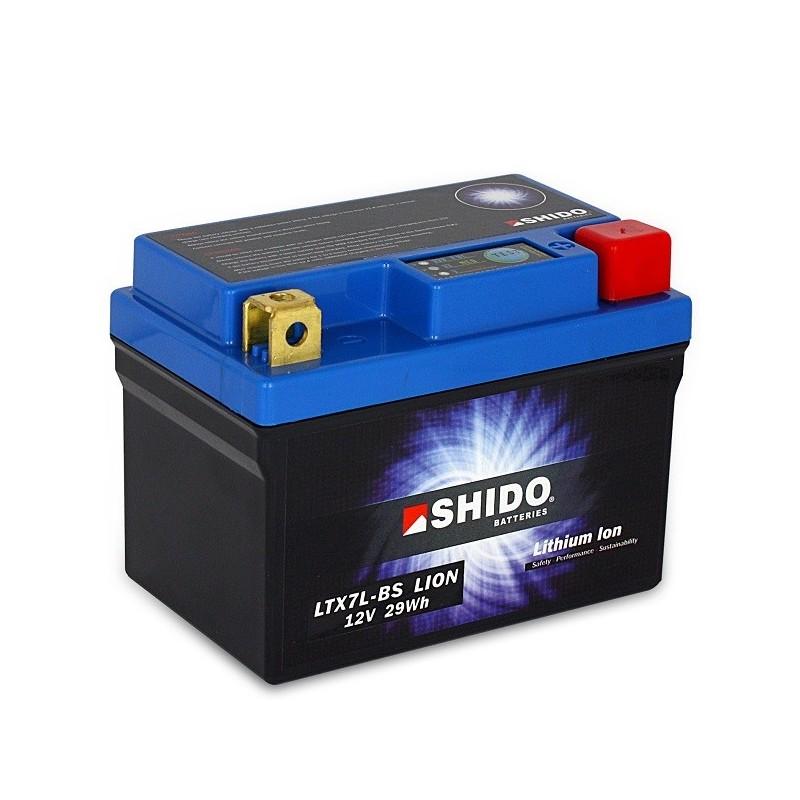 Batterie Lithium Ion SHIDO pour moto LTX7L-BS
