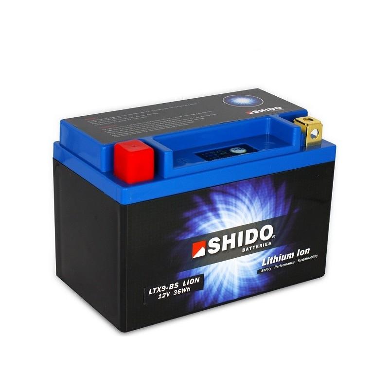 Batterie Lithium Ion SHIDO pour moto LTX9-BS