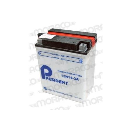 Batterie Moto President 12N14-3A