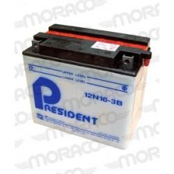 Batterie Moto President 12N16-3B