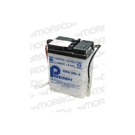 Batterie Moto President 6N2-2A-4