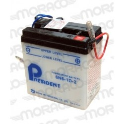Batterie Moto President 6N6-1D-2