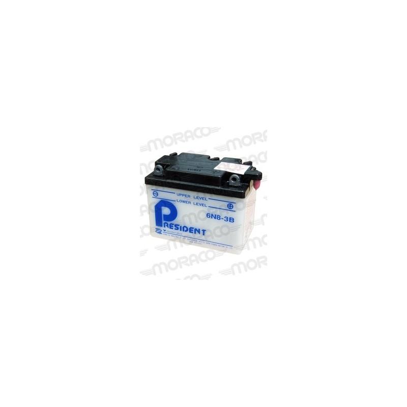 Batterie Moto President 6N8-3B