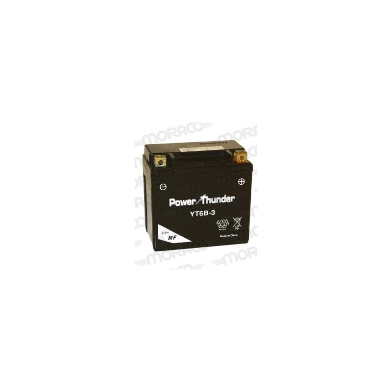 Batterie Moto Power Thunder YT6B-3
