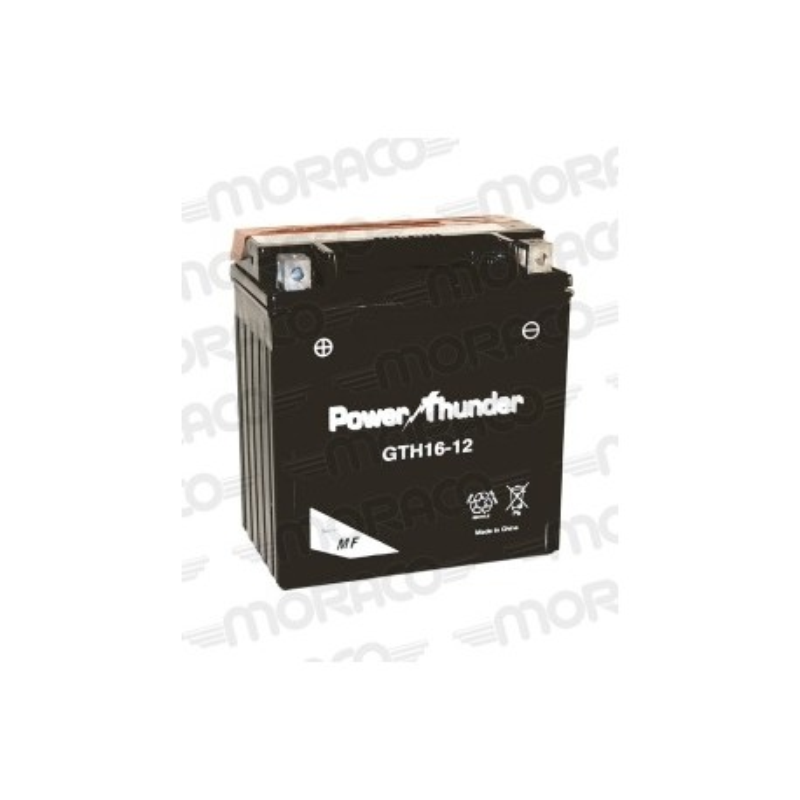 Batterie Moto Power Thunder YTH16-12 (YTX16-BS)